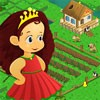This little princess had had enough of the royal palace life and she wants to retire to the other side of the country and build a farm. Join her today and help her find a clean place, build a nice comfy house and most importantly build a garden where to grow plants and animals. Have fun!