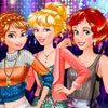 Prinesses Anna , Ariel and Aurora are going to atttend to a sorority party. Fir