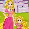 Princess Rapunzel and her prince husband have a doughter. Rapunzel's doughter l
