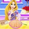 Let's cook delicious apple pie with cute long haired princess Rapunzel. You mus