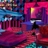 Monster high  cartoon has its own style of furnitures and building designs. is you like monster high style decorating items you will love this game. You can decorate a realistic monster high bedroom as you like.
