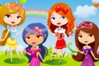 The five cute princesses want to spend this sunny day outside, visiting the bea