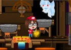 help move fierycupcake through the haunted house. push the buttons and levers t