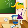 The school is in a mess! Lilly wants to clean up her school. She must clean up