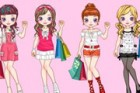 This cute girl is going to the shopping. Please try to choose the best combinat
