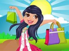 The young girl Emma is very crazy about her shopping, it's the best free time t