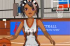 This sporty girl knows how to jump and slam dunk a basketball! She trained hers