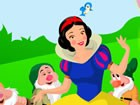 Snow White is a poor princess who was pursued by the Queen - her step mother. S
