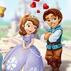Help the cute couple in this Sofia and the prince kissing 