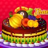 Decorate a special Thanksgiving cake. Use cool thanksgiving cake decorating too