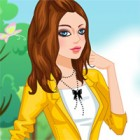 Dress the pretty woman in trendy sunny outfits.