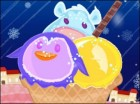 Decorate the animal shaped ice cream with toppings, ice cream decorations and s