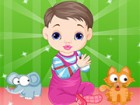 Play with the sweet little baby and dress her up as she plays with her toys!