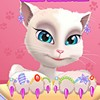 Invite your friend Angela in this Talking Angela great manicure game to sit down and enjoy a nice relaxing song while you will be doing her nails. Make them colorful and shiny just the way she likes them.