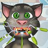 In this Talking Tom dentist game you will be dealing with his tooth problems because lately he has been complaining about some nasty toothaches that he cannot get rid of.