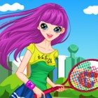 A sporty dressup for a Tennis girl.