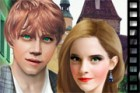 The legendary movie series Harry Potter's Hermione and Ron, in real life Emma