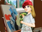 This talented painter spends the majority of her free time in her studio creati