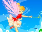 Tinker Bell Fairy very beautiful, her wings are soft and colorful. she help to