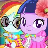 Baby ponies Twilight And Rainbow are very cute. But they need a babysitter. if