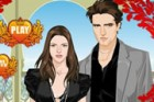 Kristen Stewart and Robert Pattinson are going to a twilight party, dress up th