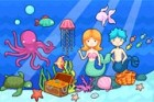 The princess and the prince of the underwater world are throwing a party! So th