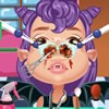 This cute vampire girl has some problems with her nose. You are a nose doctor a
