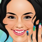 Vanessa Hudgens would like to get her nails done. Help Vanessa get a manicure b