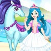 This beautiful princess dress up game allows you to click on the icons on the r