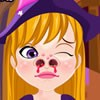 This adorable witch girl is having some big nose problems and she is looking fo